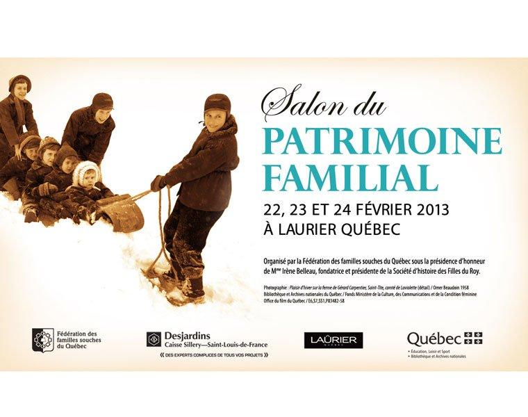 Le Salon du Patrimoine Familial 2013 à Laurier Québec