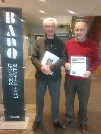 Jean-Pierre Proulx & Florian Proulx at the BAnQ Depot