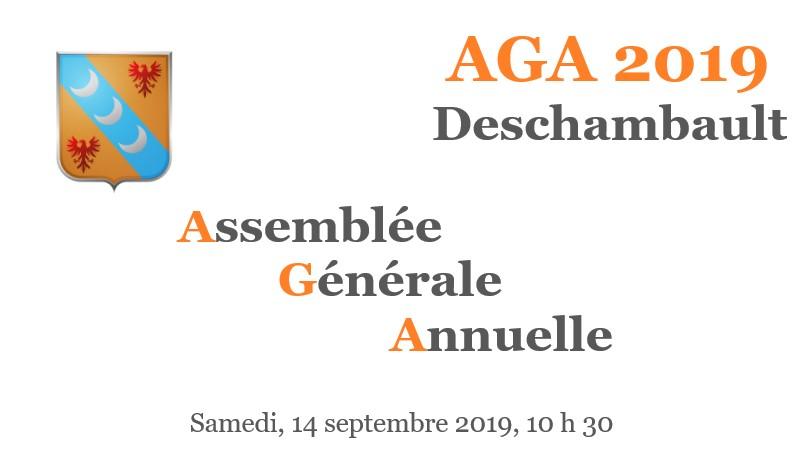 Tous à Deschambault le 14 septembre pour l'Assemblée générale annuelle