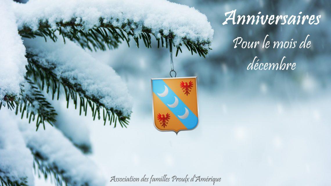 Joyeux anniversaire à tous nos membres nés en décembre