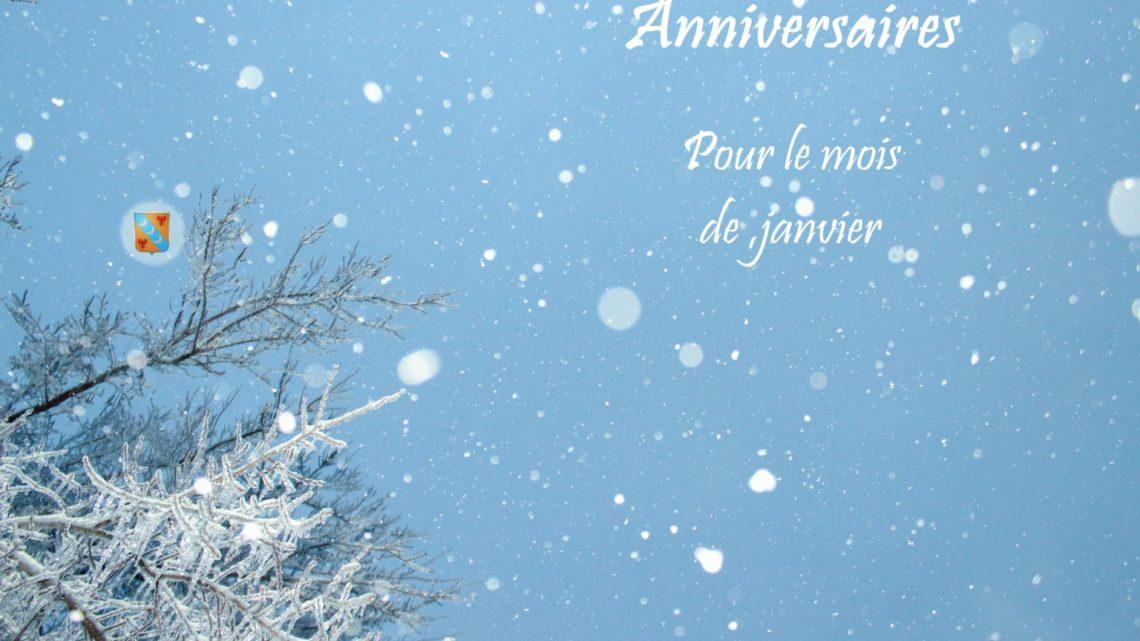 Joyeux anniversaire à tous nos membres nés en janvier