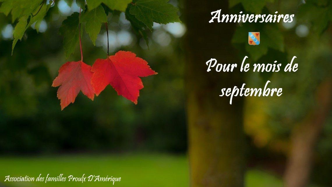 Joyeux anniversaire à tous nos membres nés en septembre