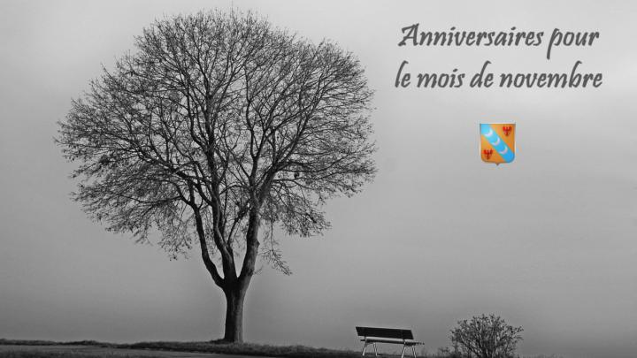Joyeux anniversaire à tous nos membres nés en novembre