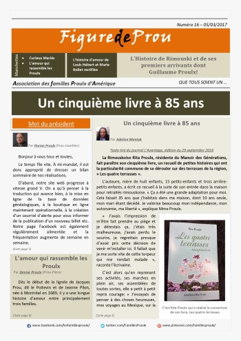 The latest edition of Figure de Prou will be online this week